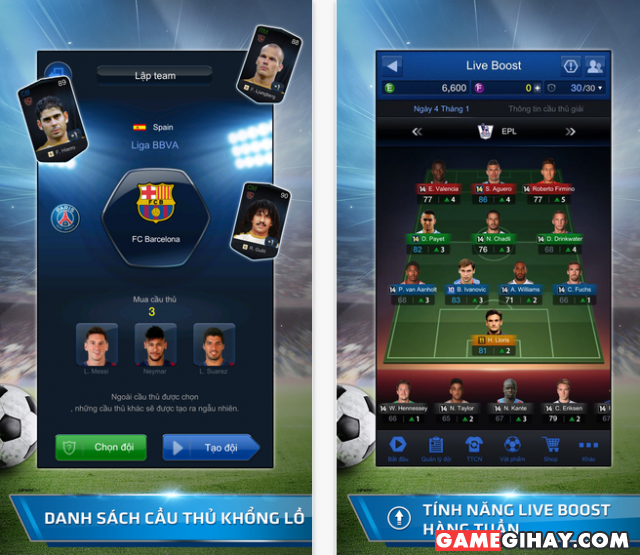Game fifa online 3m cho iPhone