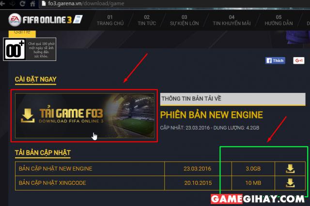 trang tải game fifa online 3