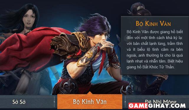 nhân vật bộ kinh vân trong game