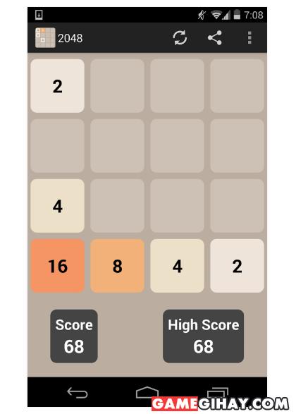 Hình 2 Tải 2048 - Trò chơi ghép số trên điện thoại Android