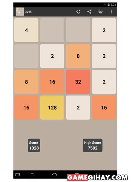 Hình 3 Tải 2048 - Trò chơi ghép số trên điện thoại Android