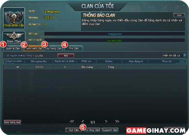 Hướng dẫn tham gia Clan trong game truy kích + Hình 2